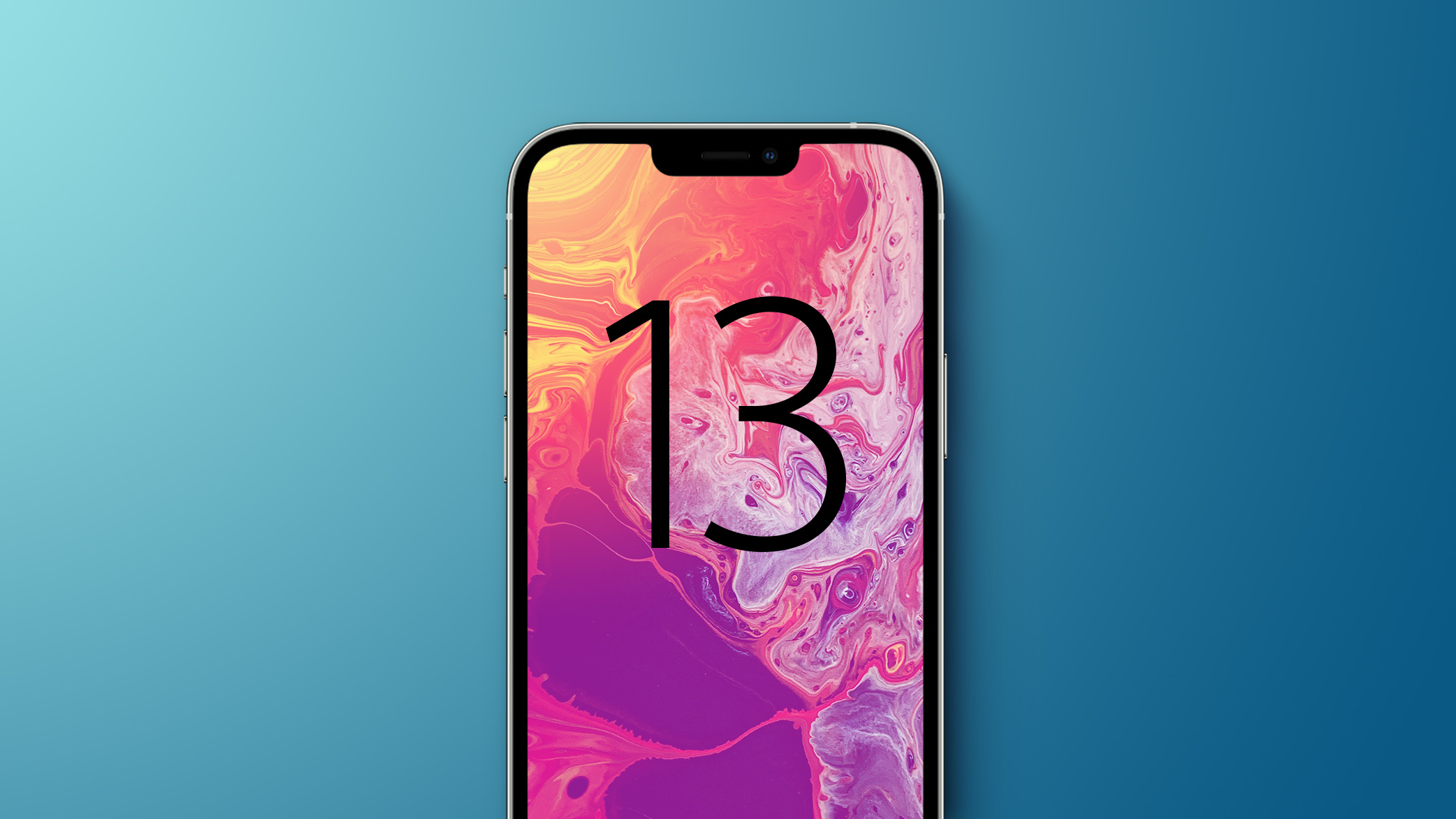 iphone 13 blue with text