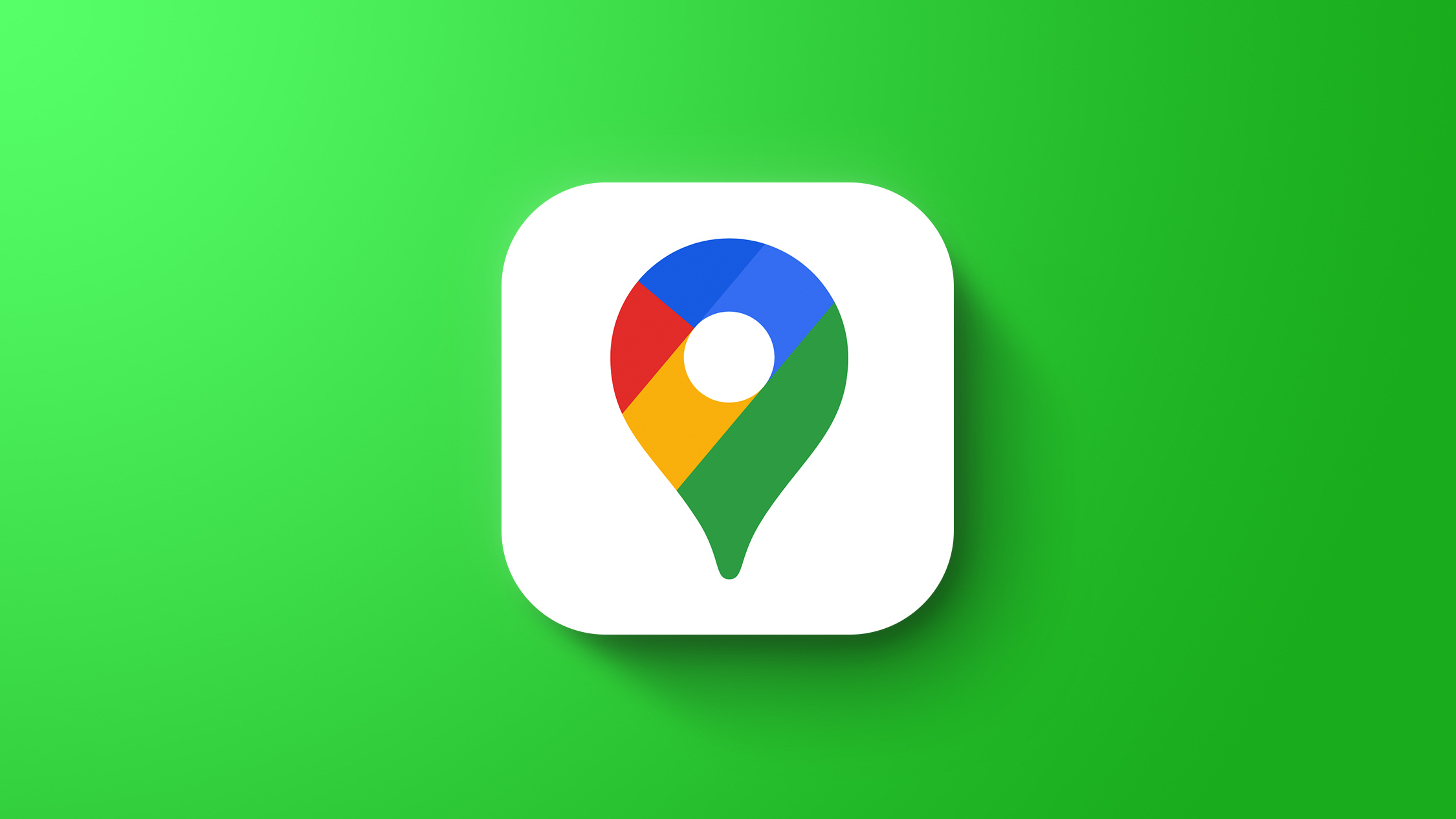 Google maps feaure green