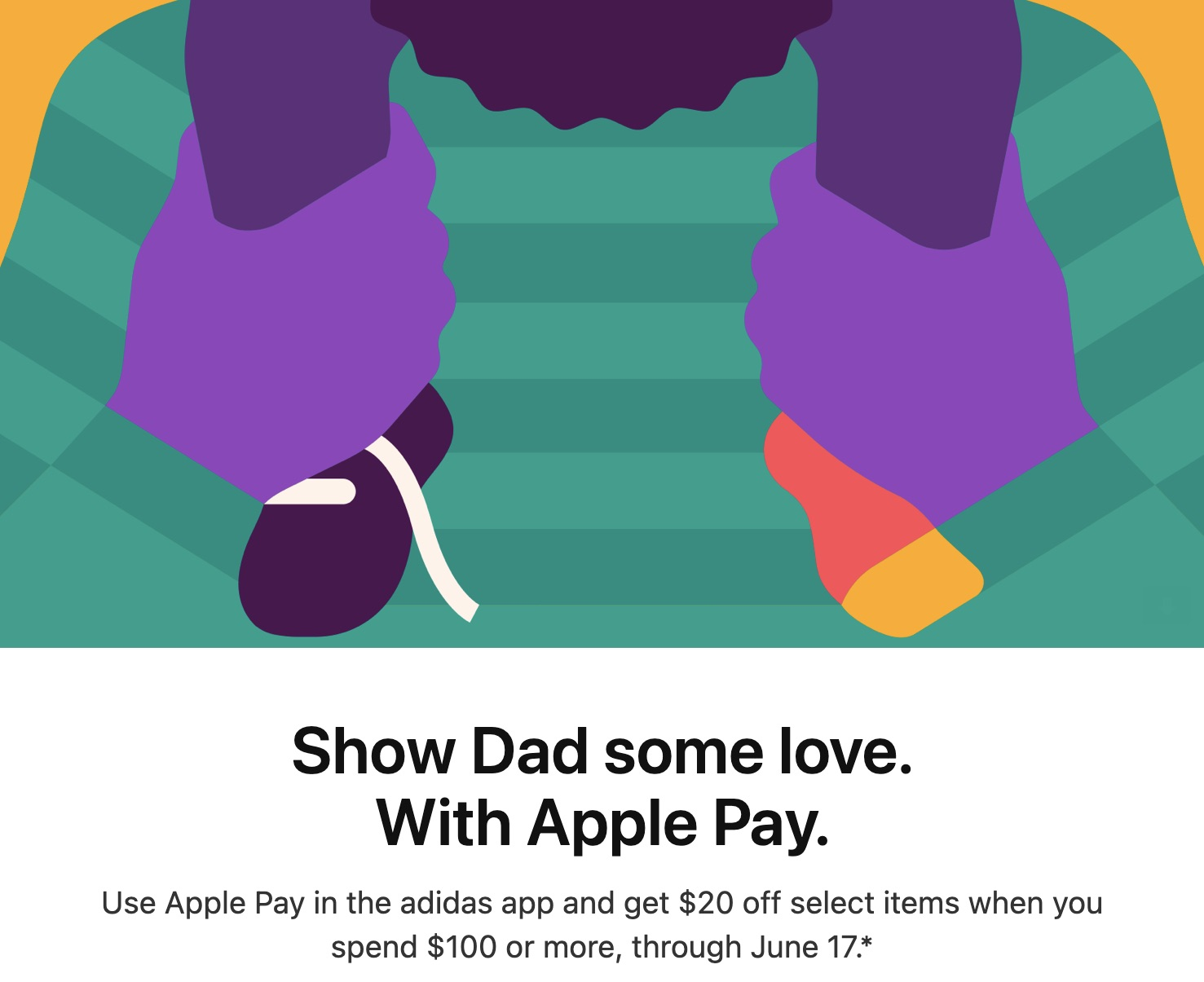 photo of Father's Day Apple Pay Promo Offers Adidas Discount image