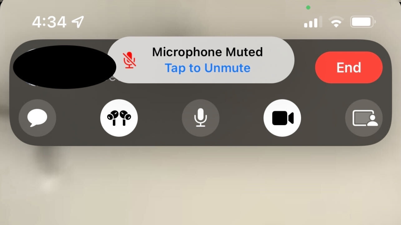 FaceTime on iOS 15 Alerts You If You Try to Talk While Muted