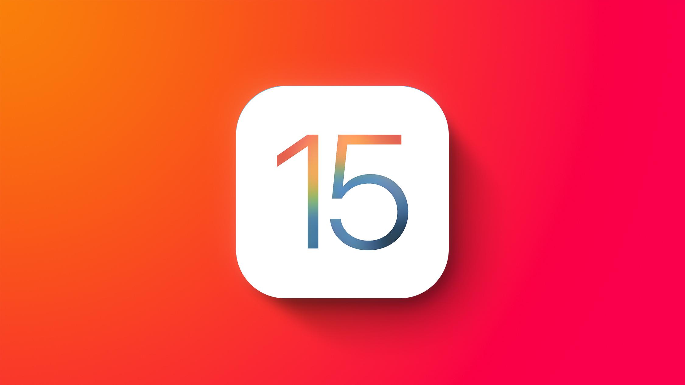 iOS 15 General Feature Red ORange