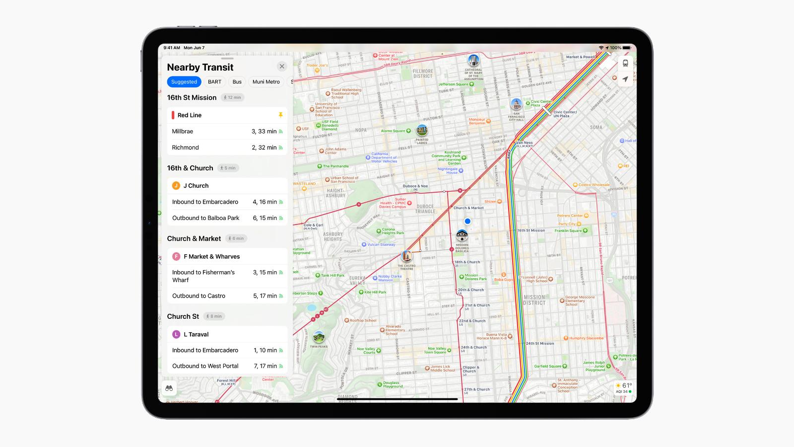 ipados 15 maps transit