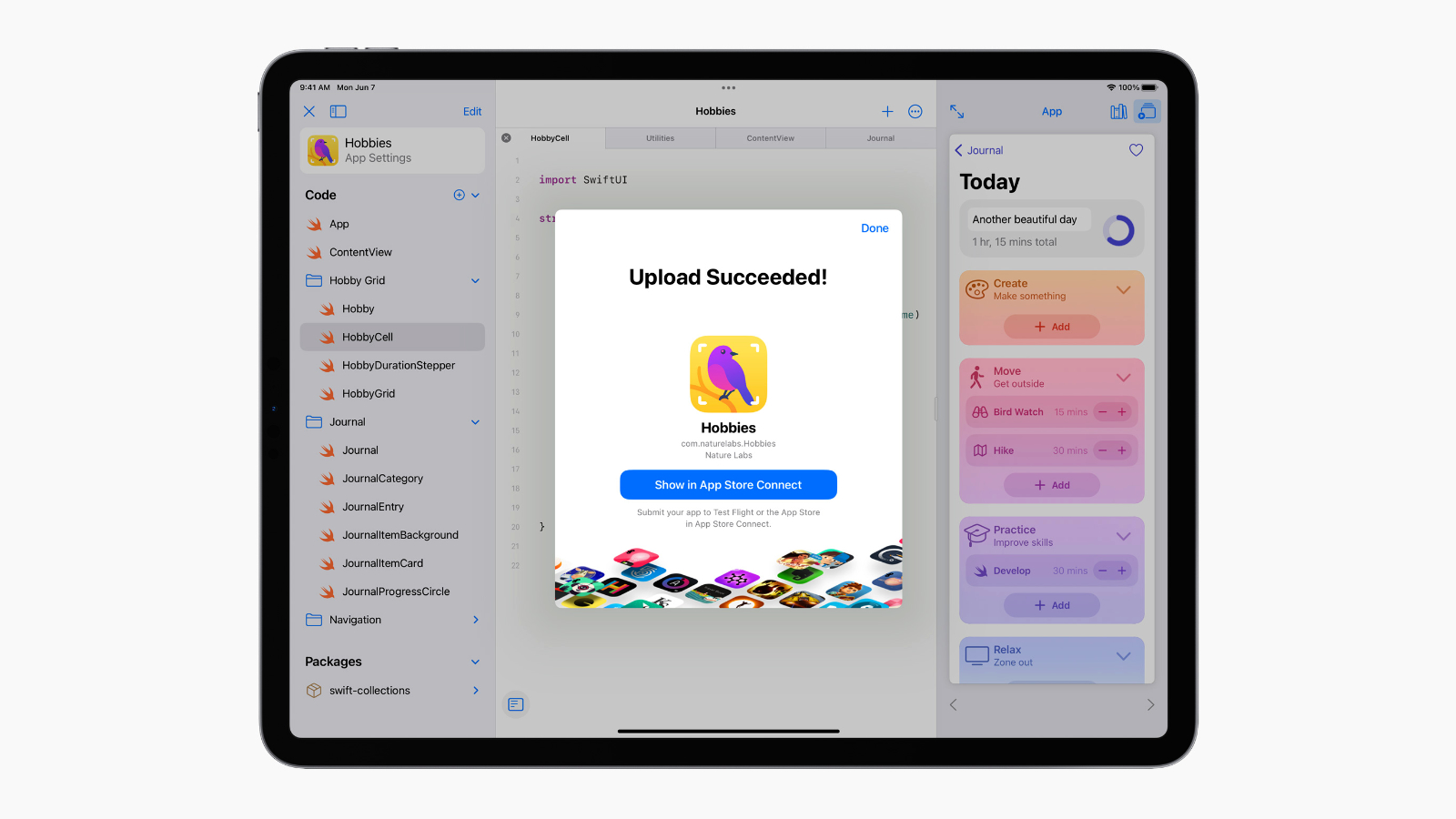 ipados 15 swift playgrounds submit to app store