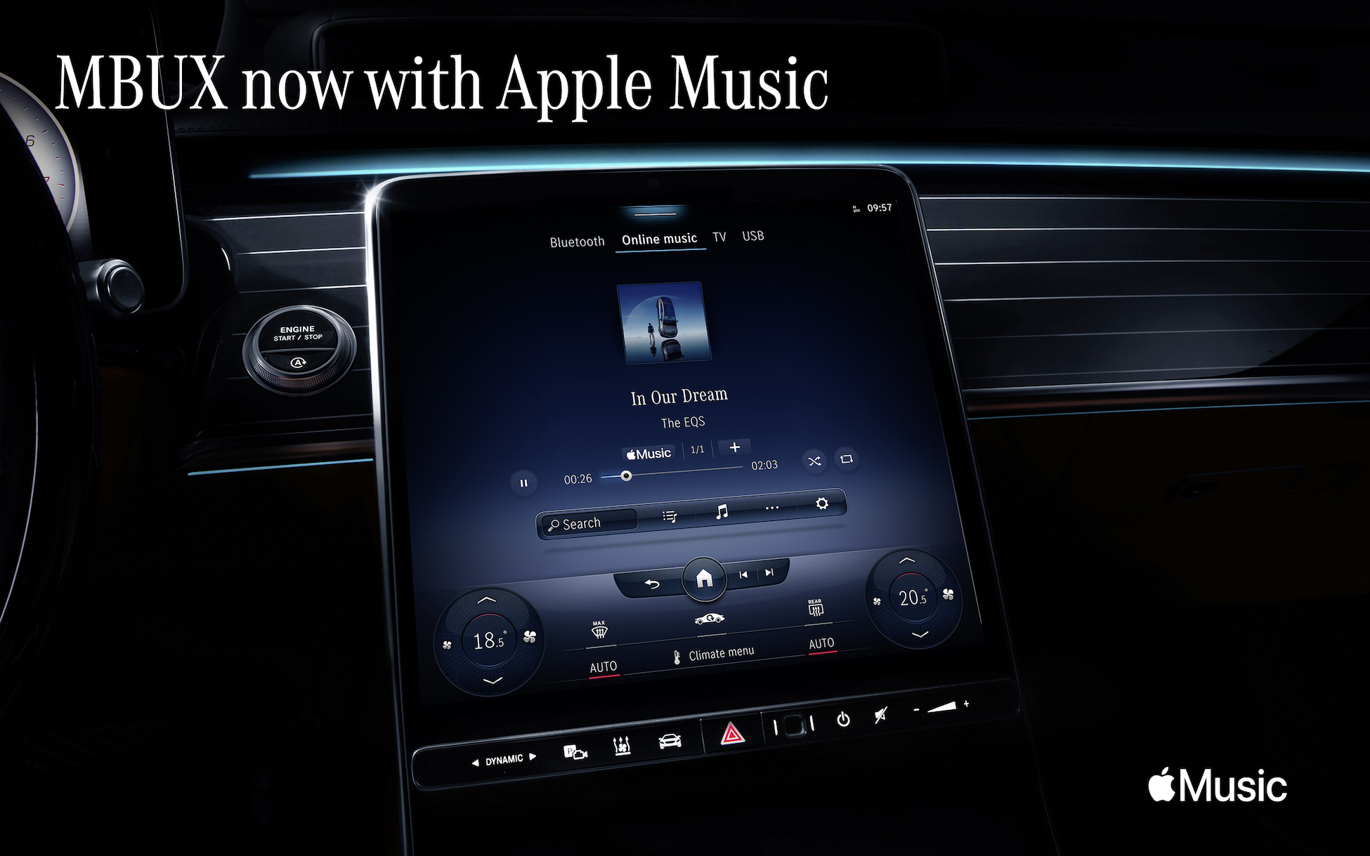 Apple Music Coming to Mercedes-Benz MBUX Infotainment System