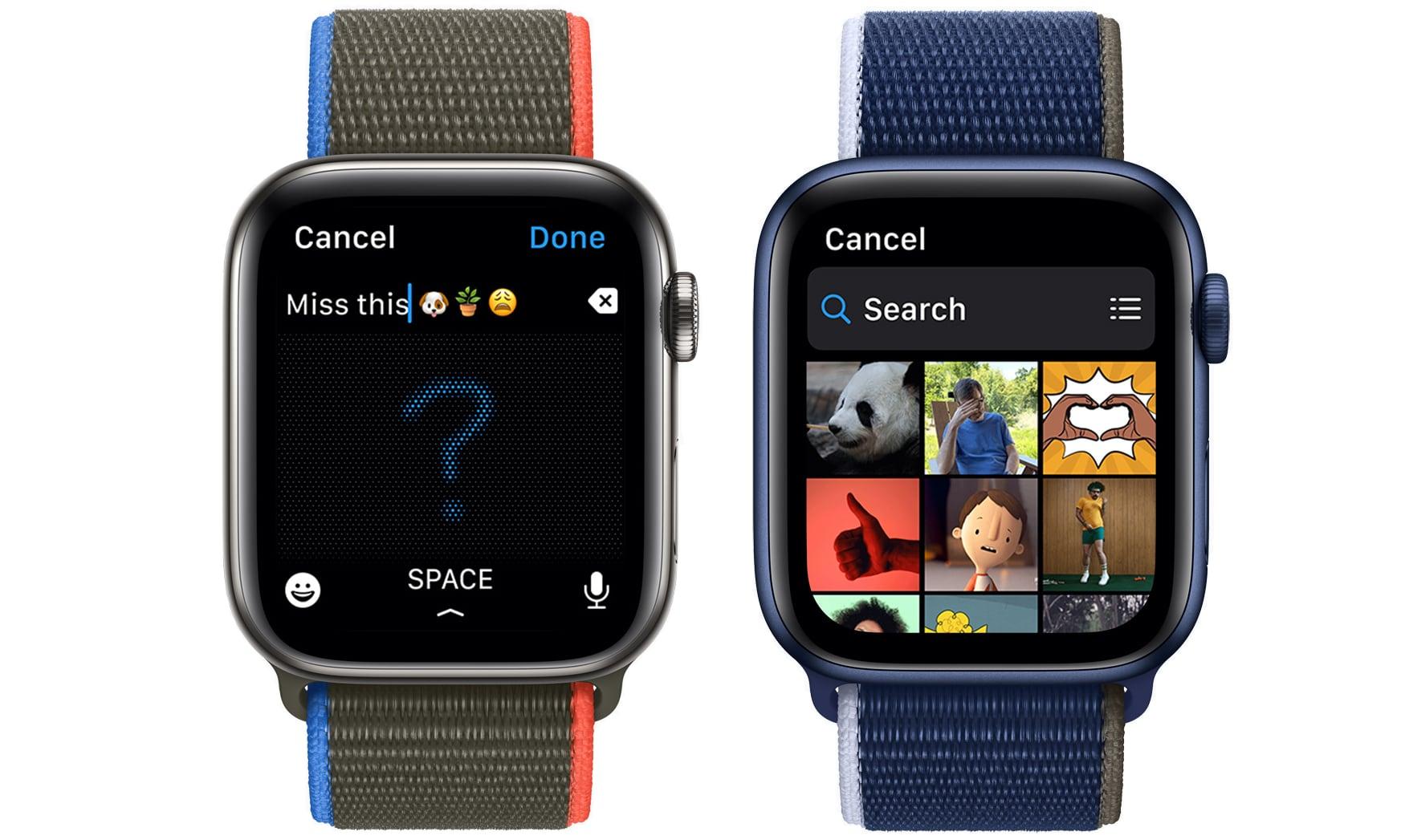 watchos 8 messages app