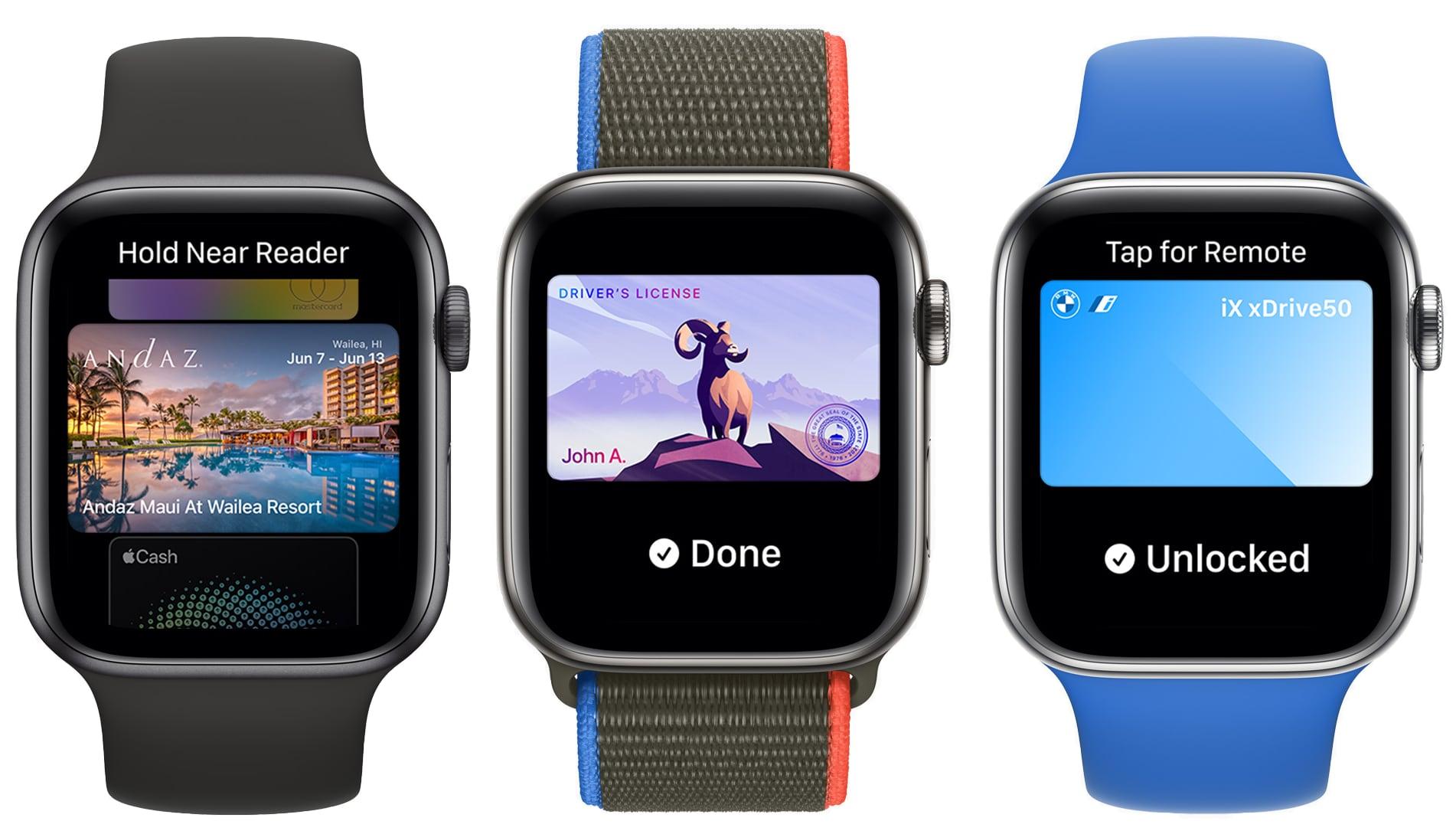 watchos 8 wallet app improvements