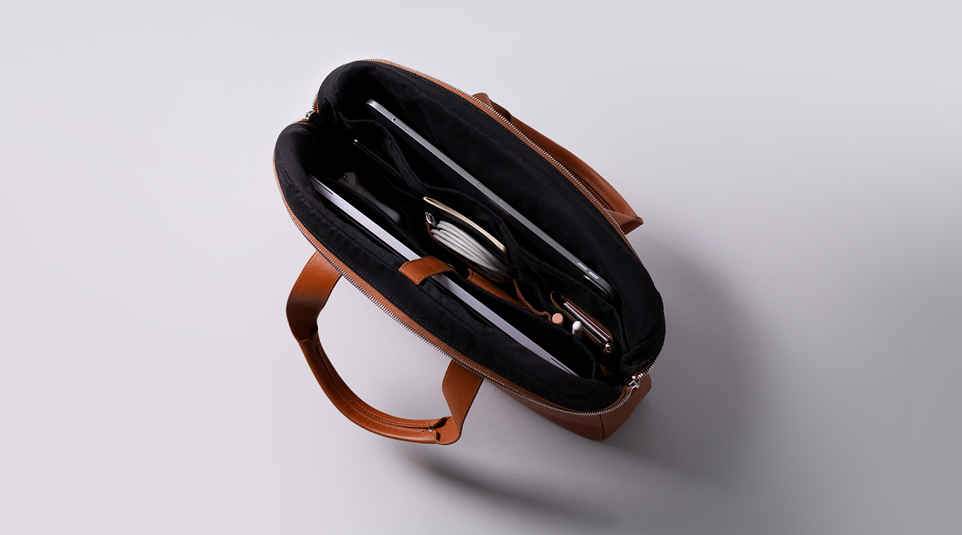 Harber London Everyday Leather Briefcase 2
