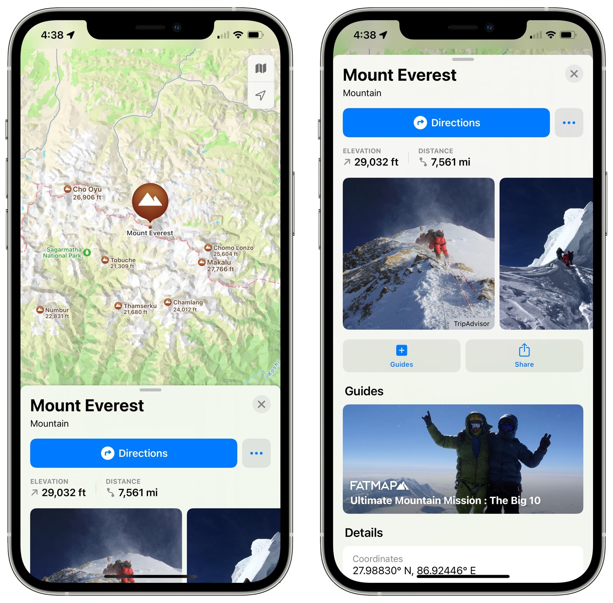 ios 15 maps mountain details