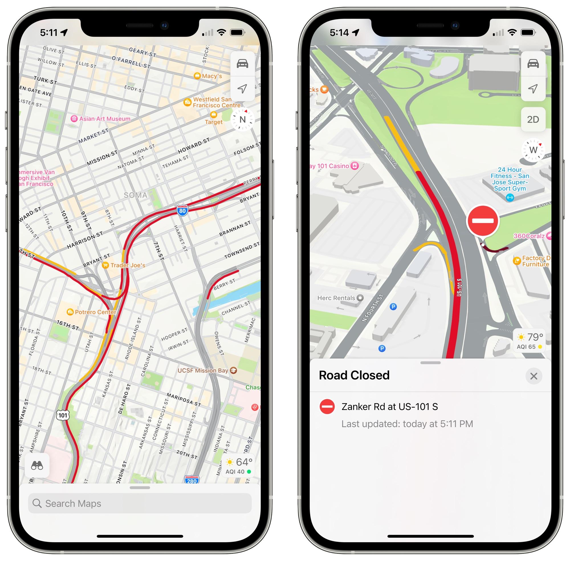 ios 15 traffic map