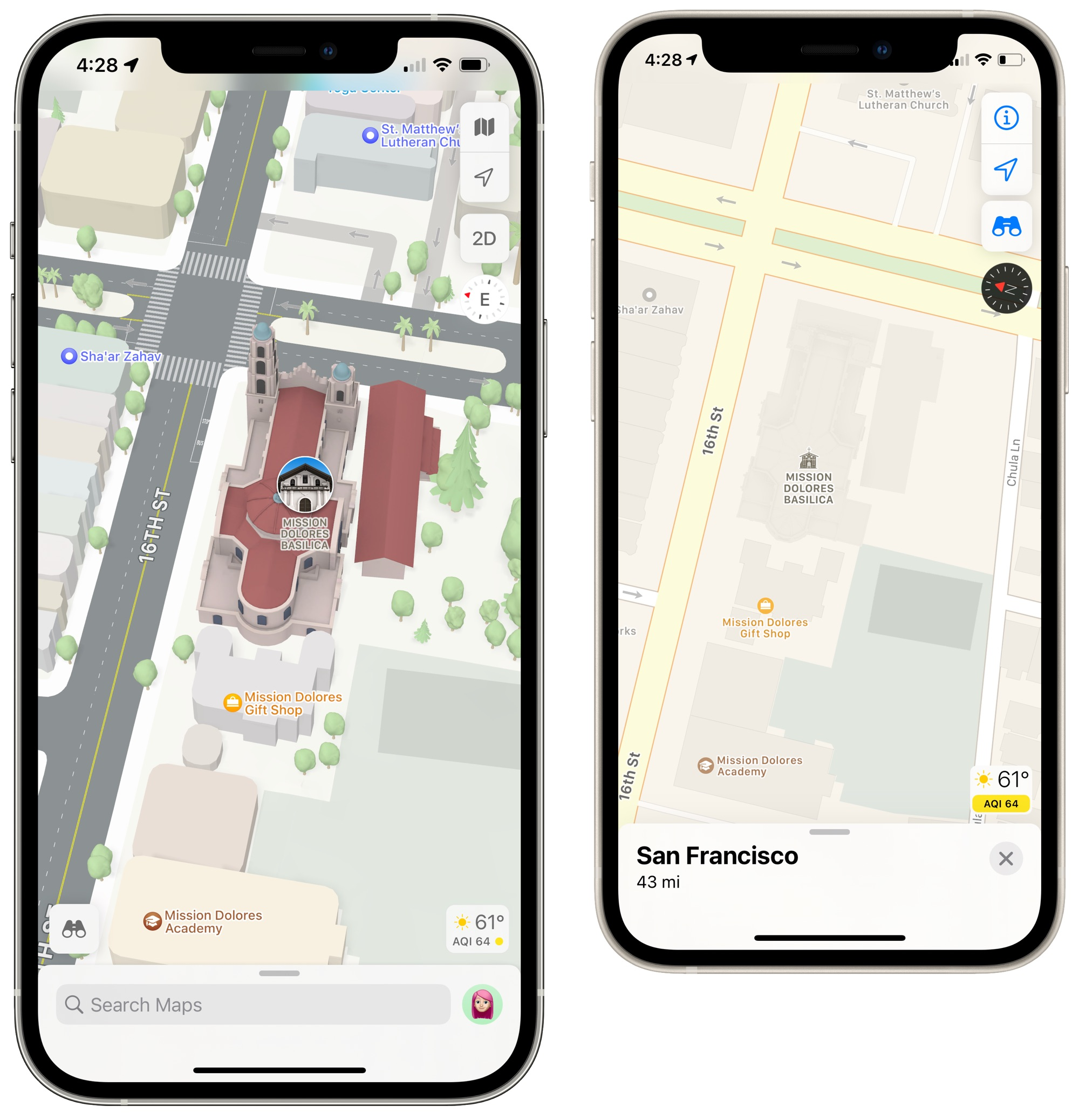 maps ios 15 new city view