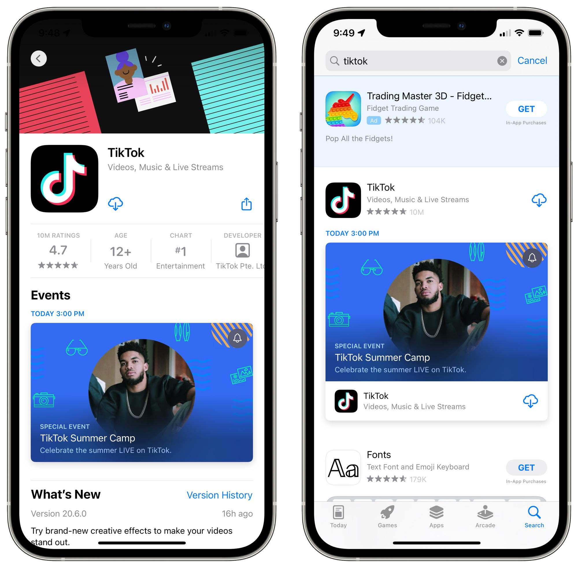app store events ios 15 2