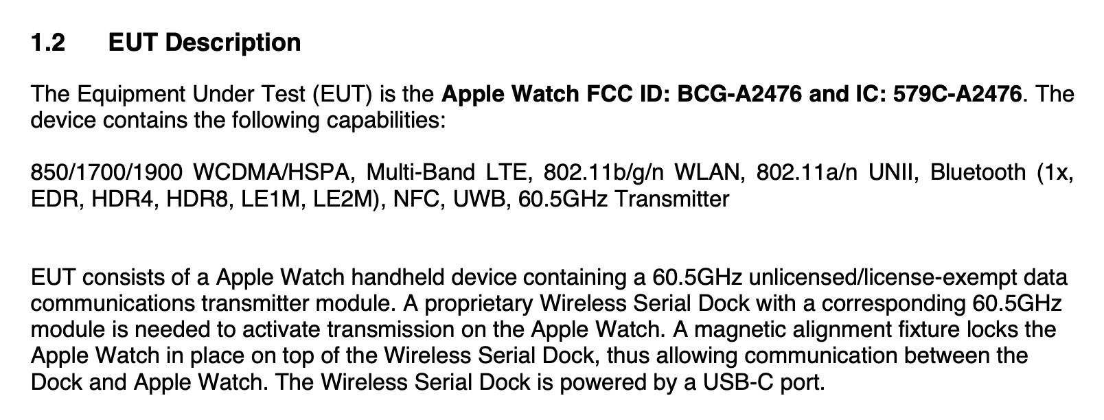 apple watch series 7 fcc