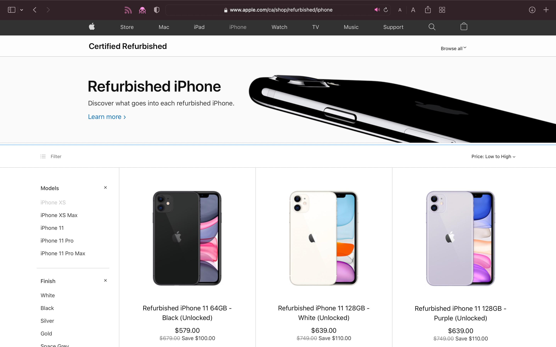canada refurb iphones