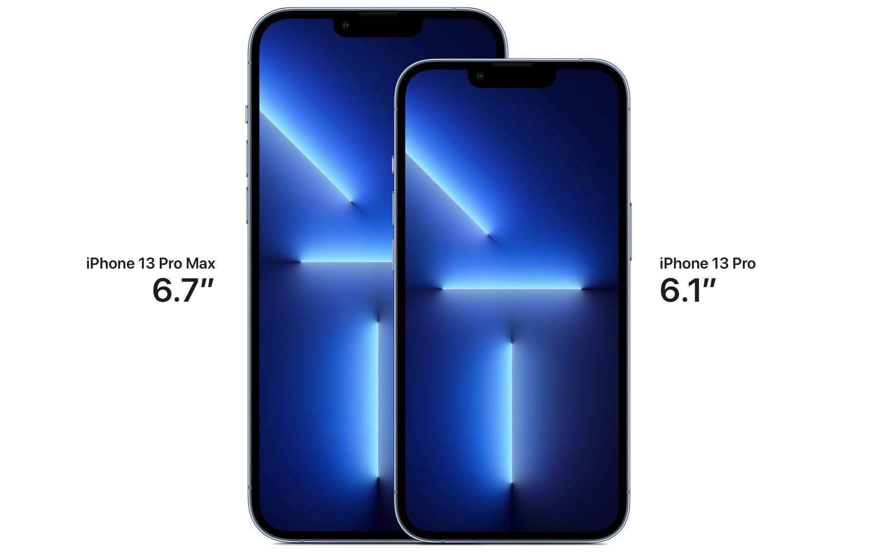 iphone 13 pro display sizes
