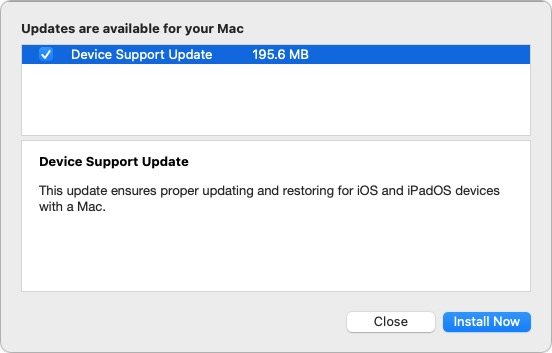 Apple Now Issues iOS Device Syncing Updates Via Software Update in macOS