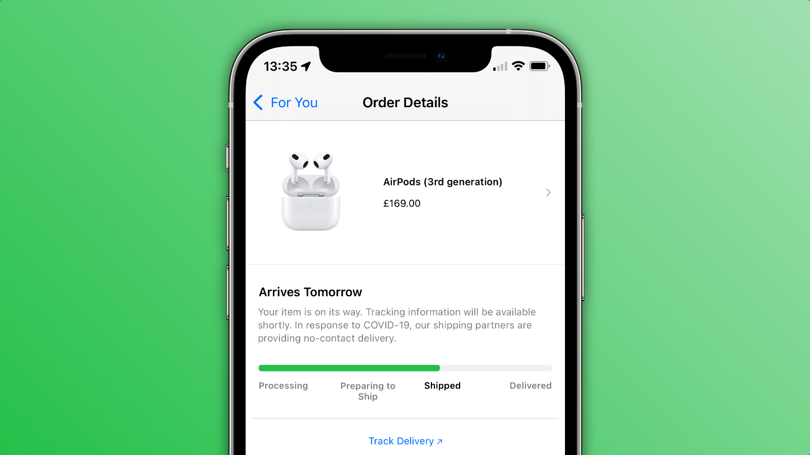 airpods 3 shipped