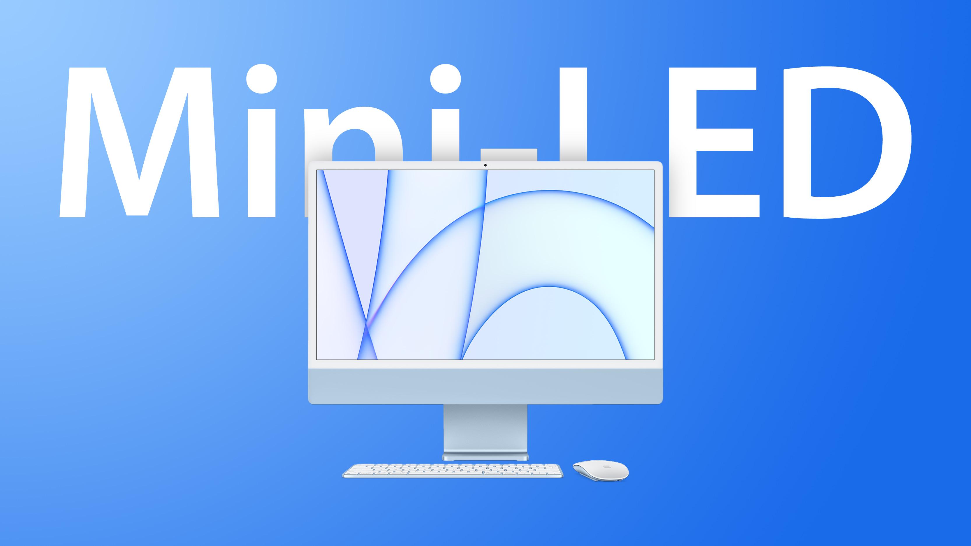 iMac M1 Blue Mini LED Feature