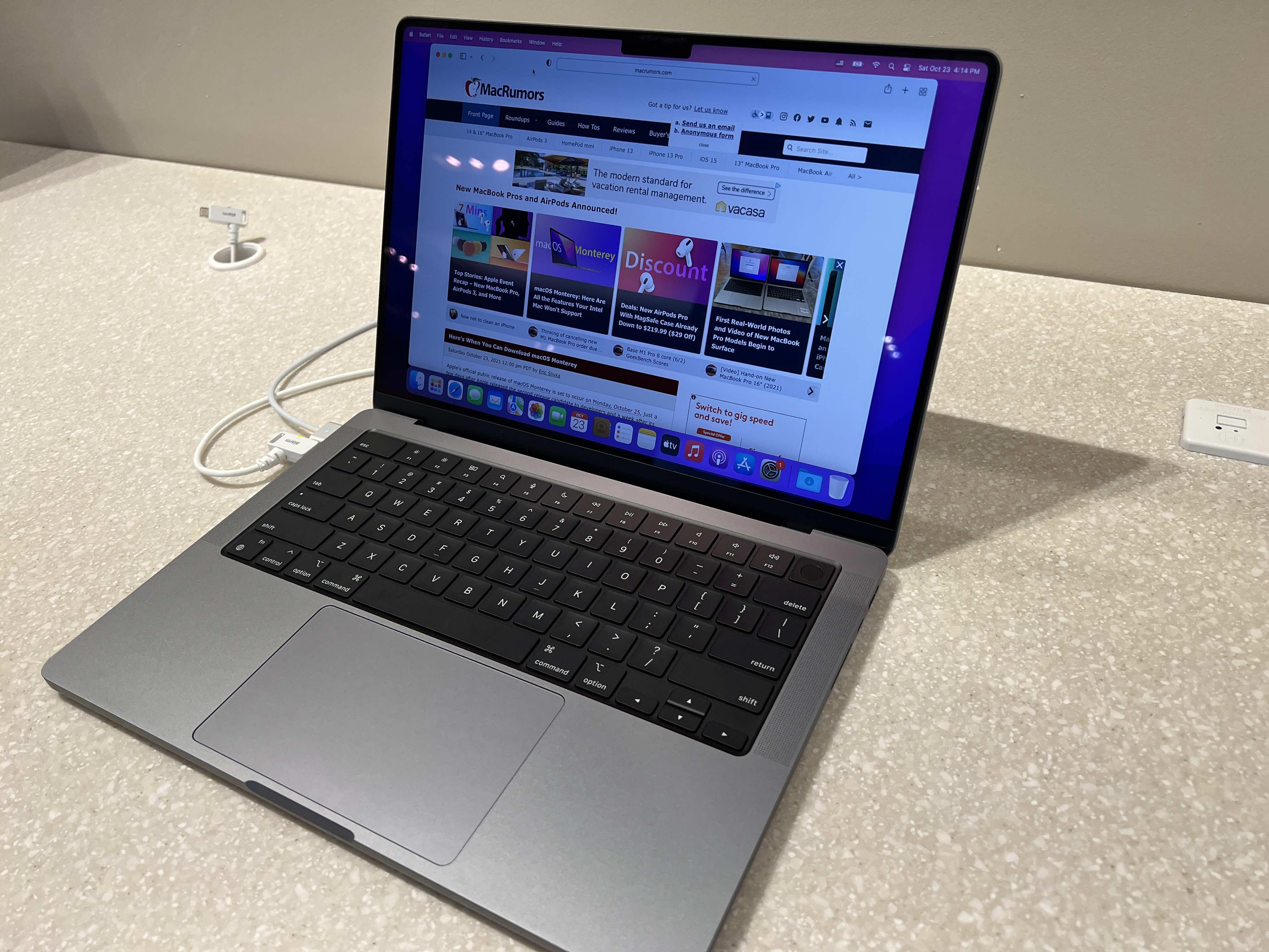 new 14 inch macbook pro top