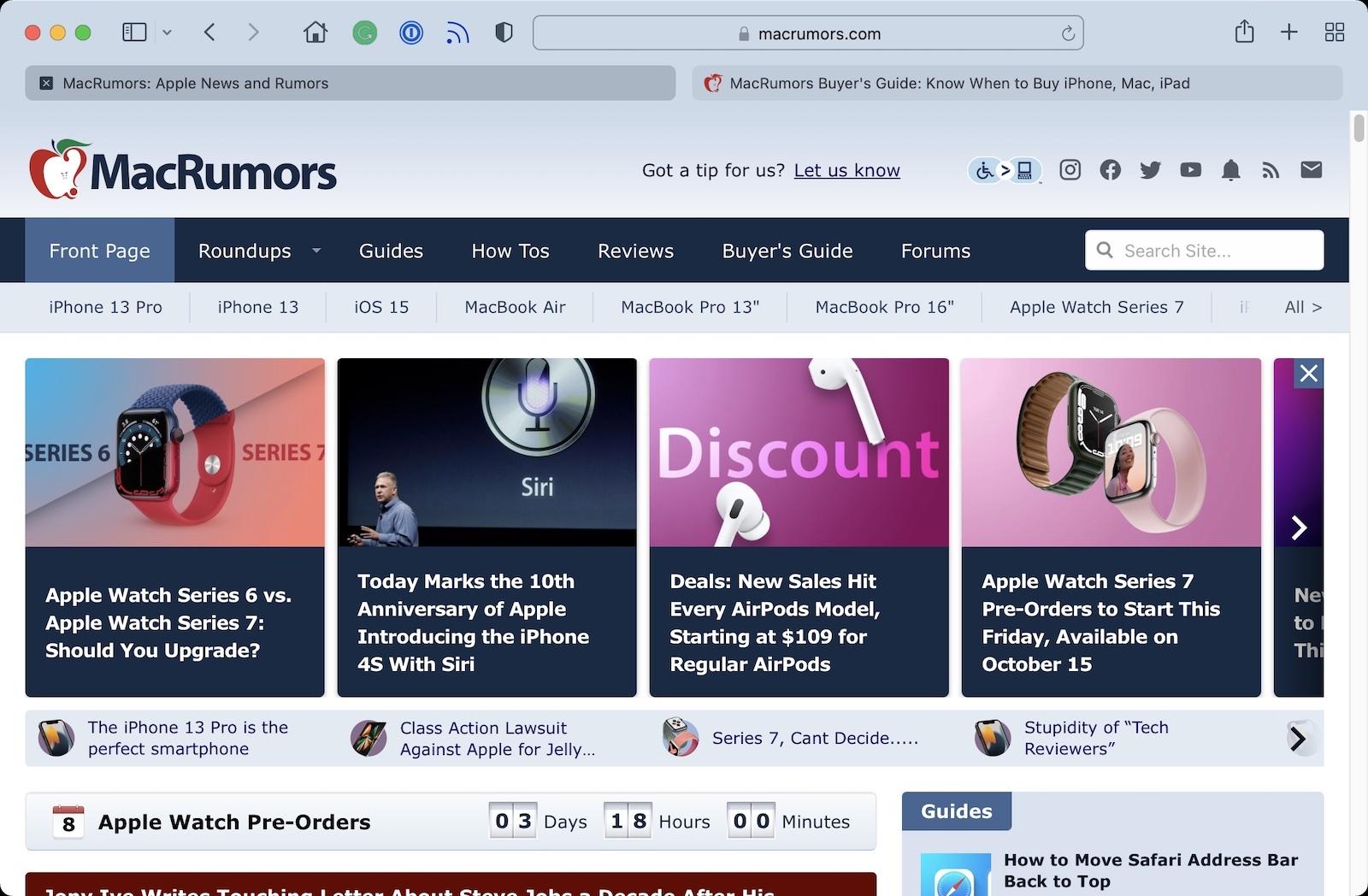 Safari 15 Users Say New Tab Design is Counterintuitive