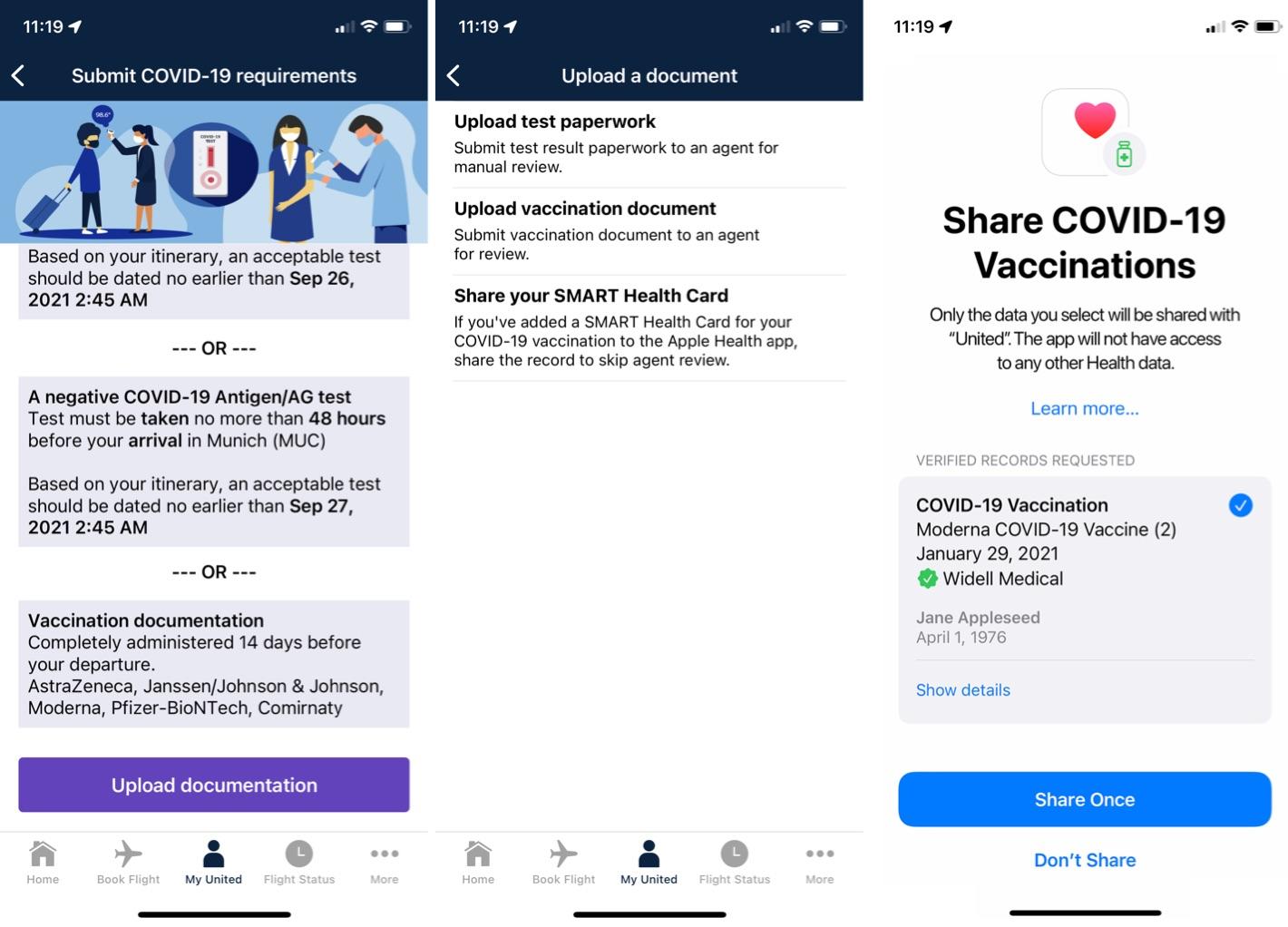 united app health integration