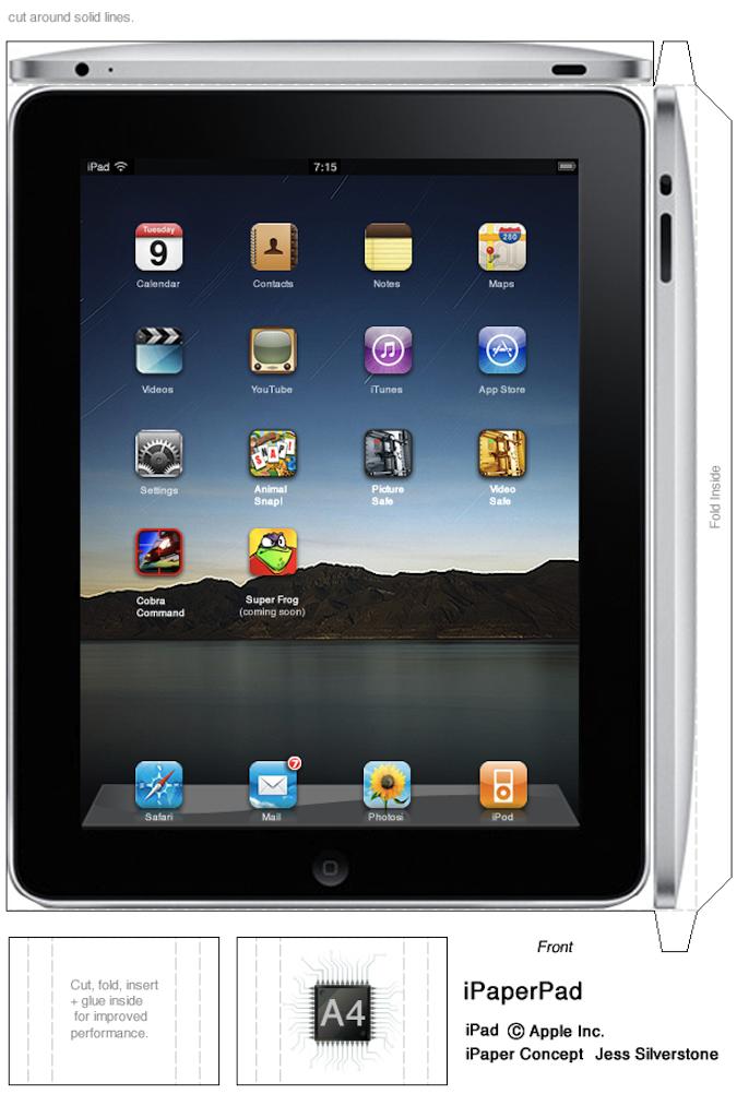 iPad aus Papier basteln « IT Runde