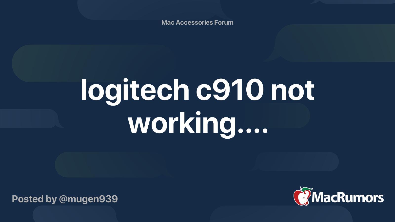 Logitech C910 Not Working Macrumors Forums