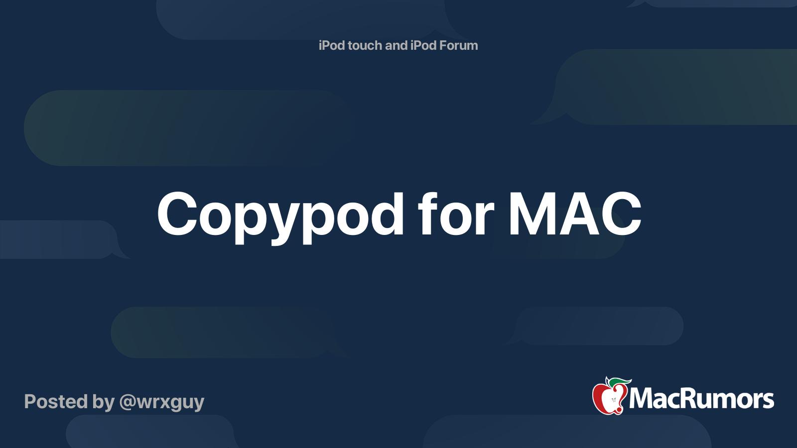 Copypod For Mac Free Download