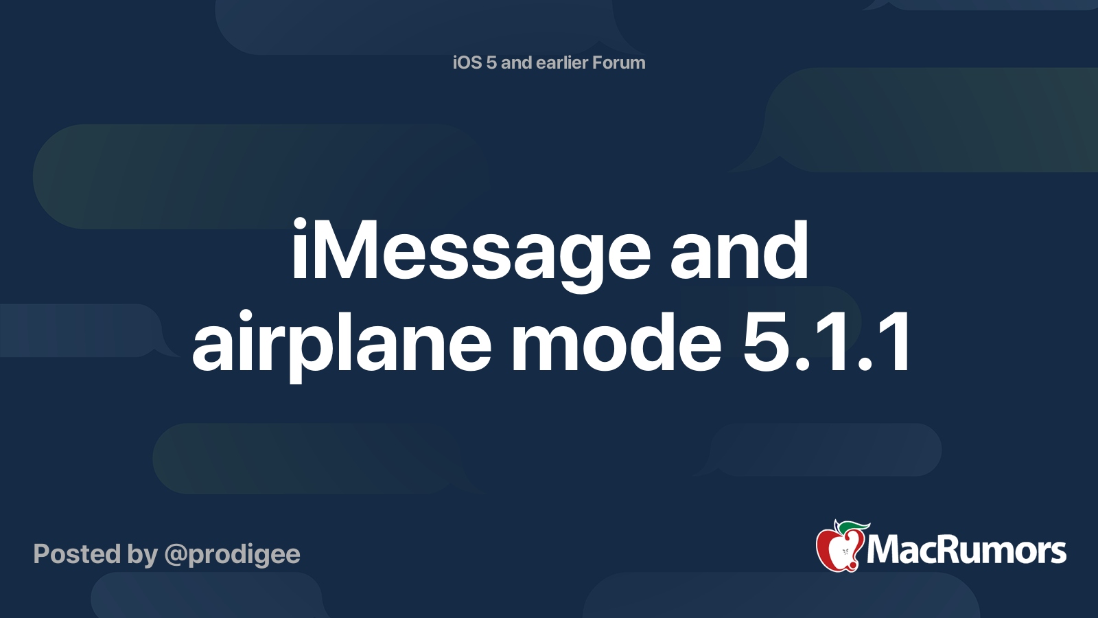 Imessage And Airplane Mode 5 1 1 Macrumors Forums