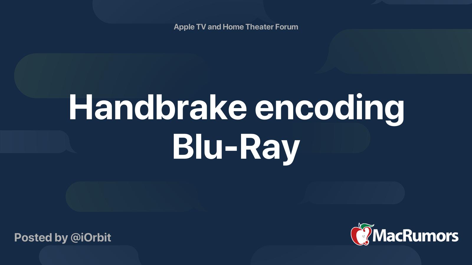 Handbrake blu ray subtitles