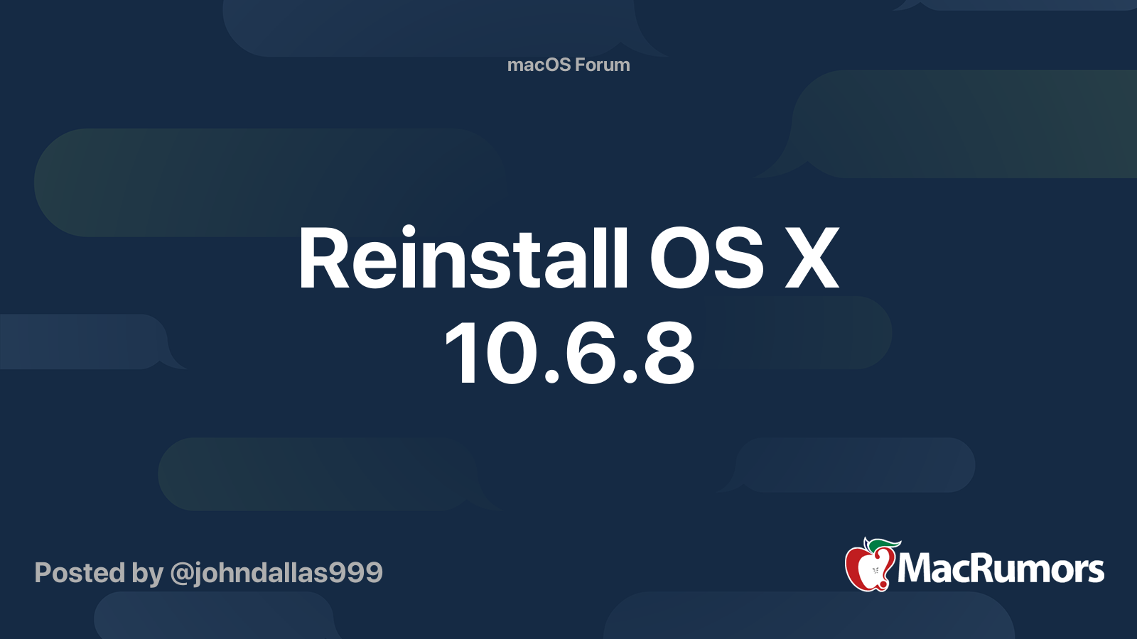 Reinstall mac os broken system