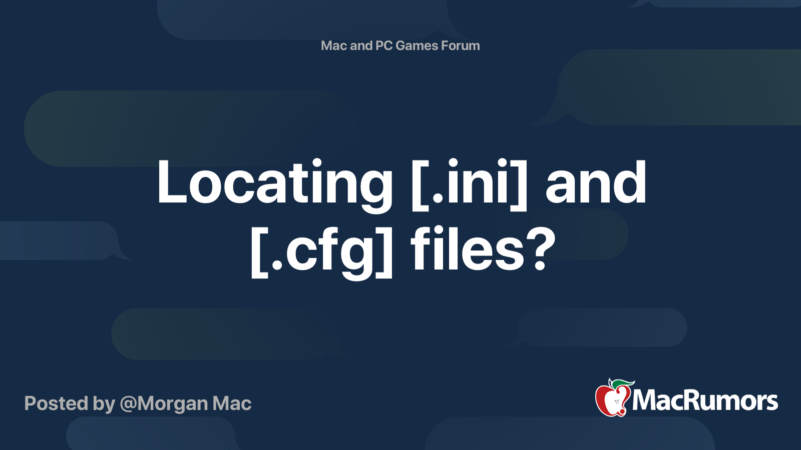 Cfg file for mac