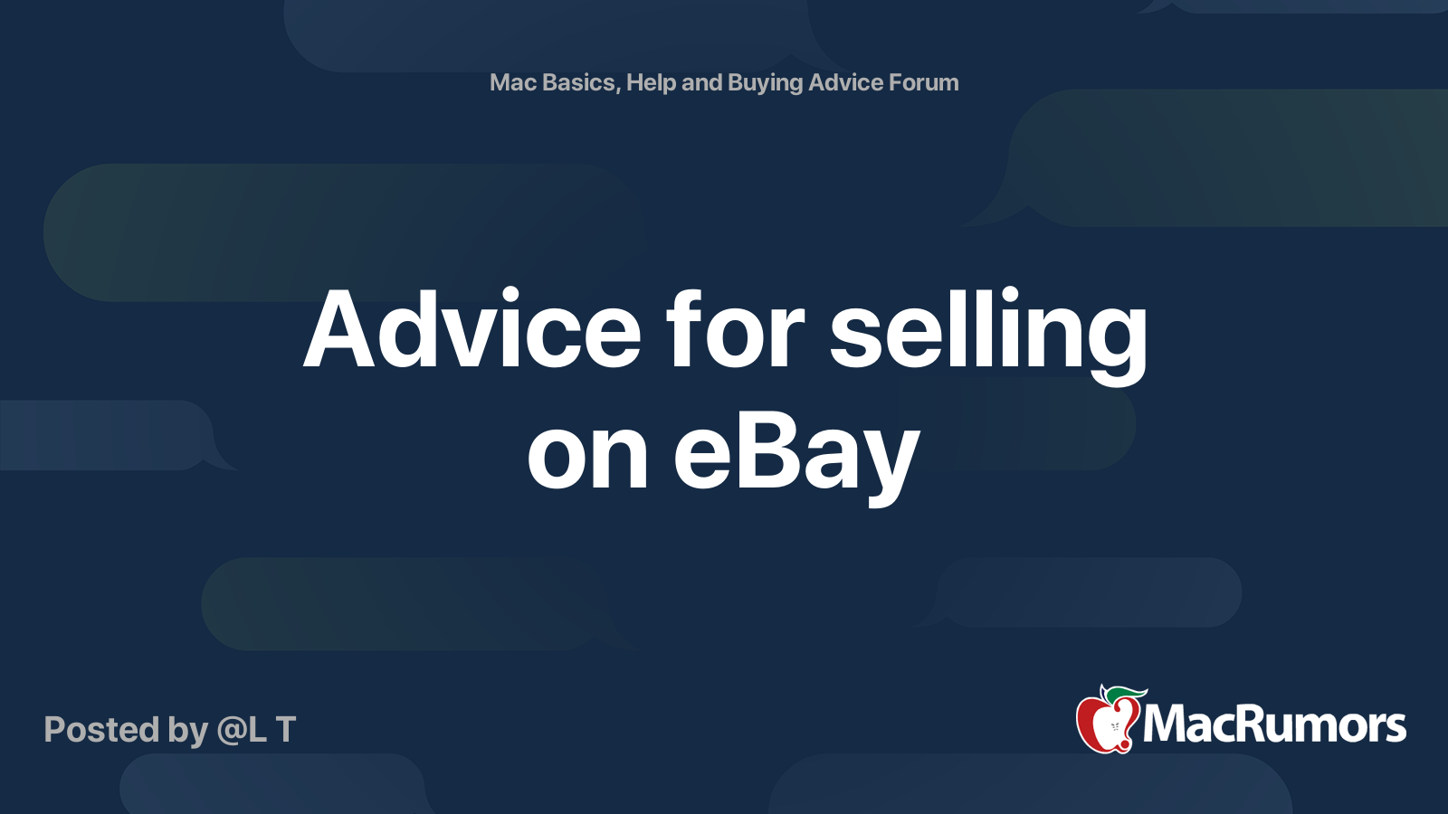 Advice For Selling On Ebay Macrumors Forums