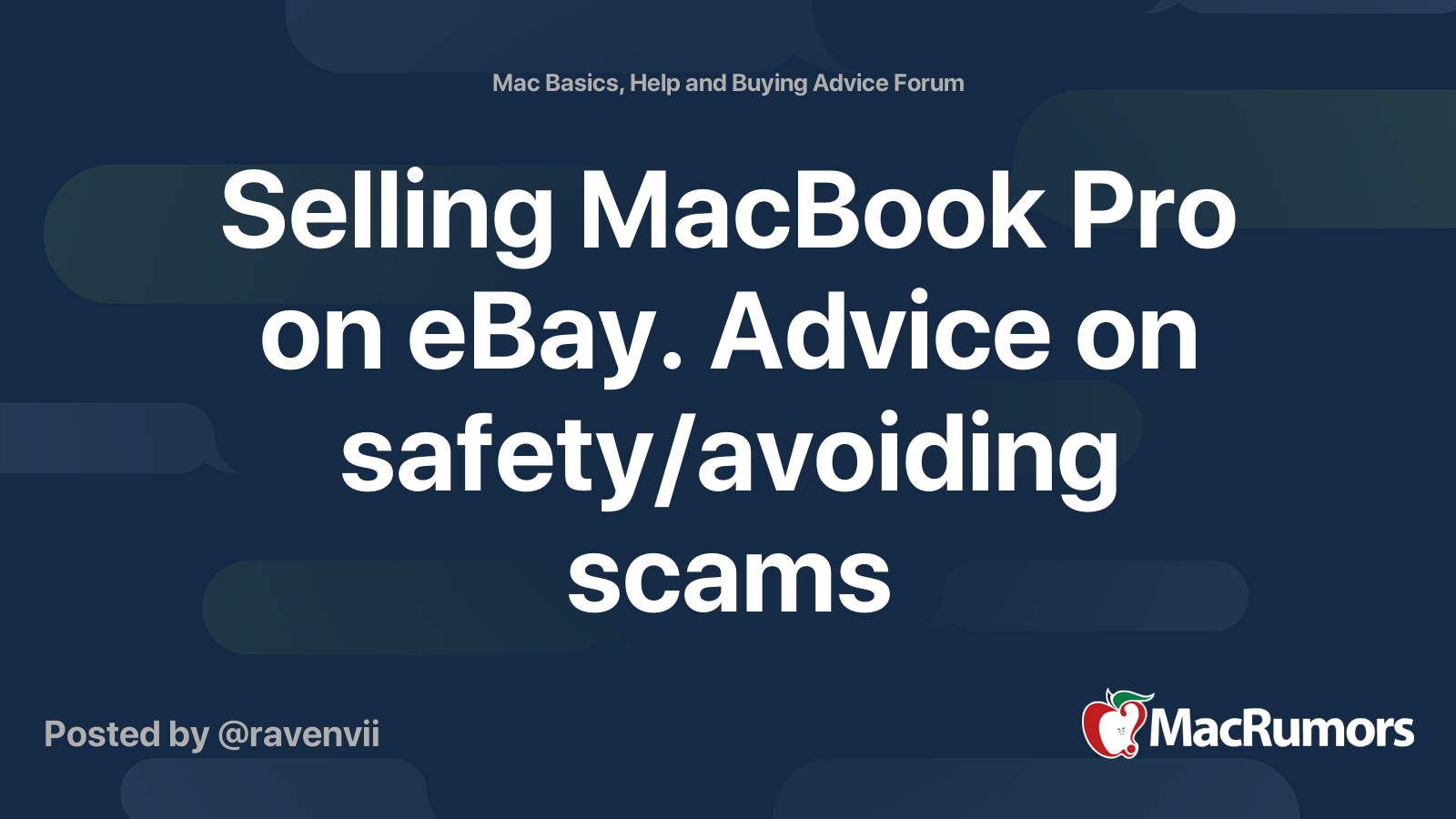 Selling Macbook Pro On Ebay Advice On Safety Avoiding Scams Macrumors Forums