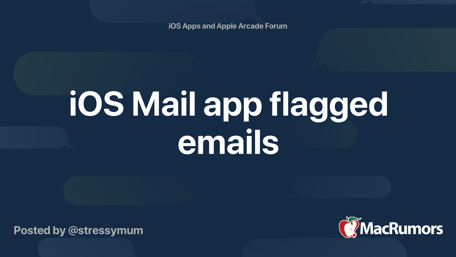 Mac email app does not show flagged emails