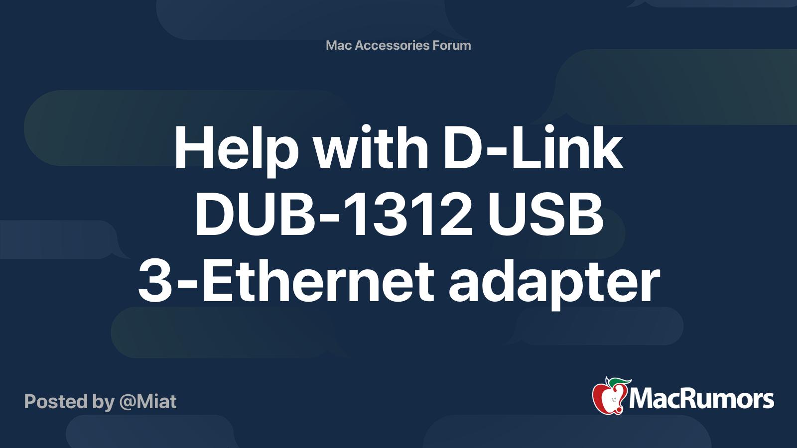 D link dub 1312 driver for mac windows 7