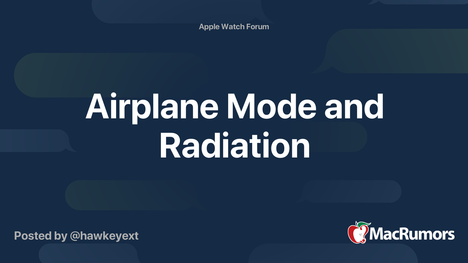 Airplane Mode And Radiation Macrumors Forums