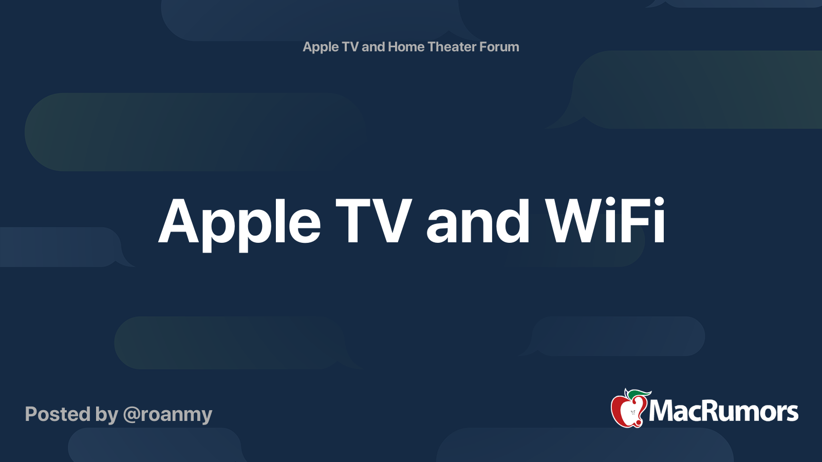 Apple TV and WiFi