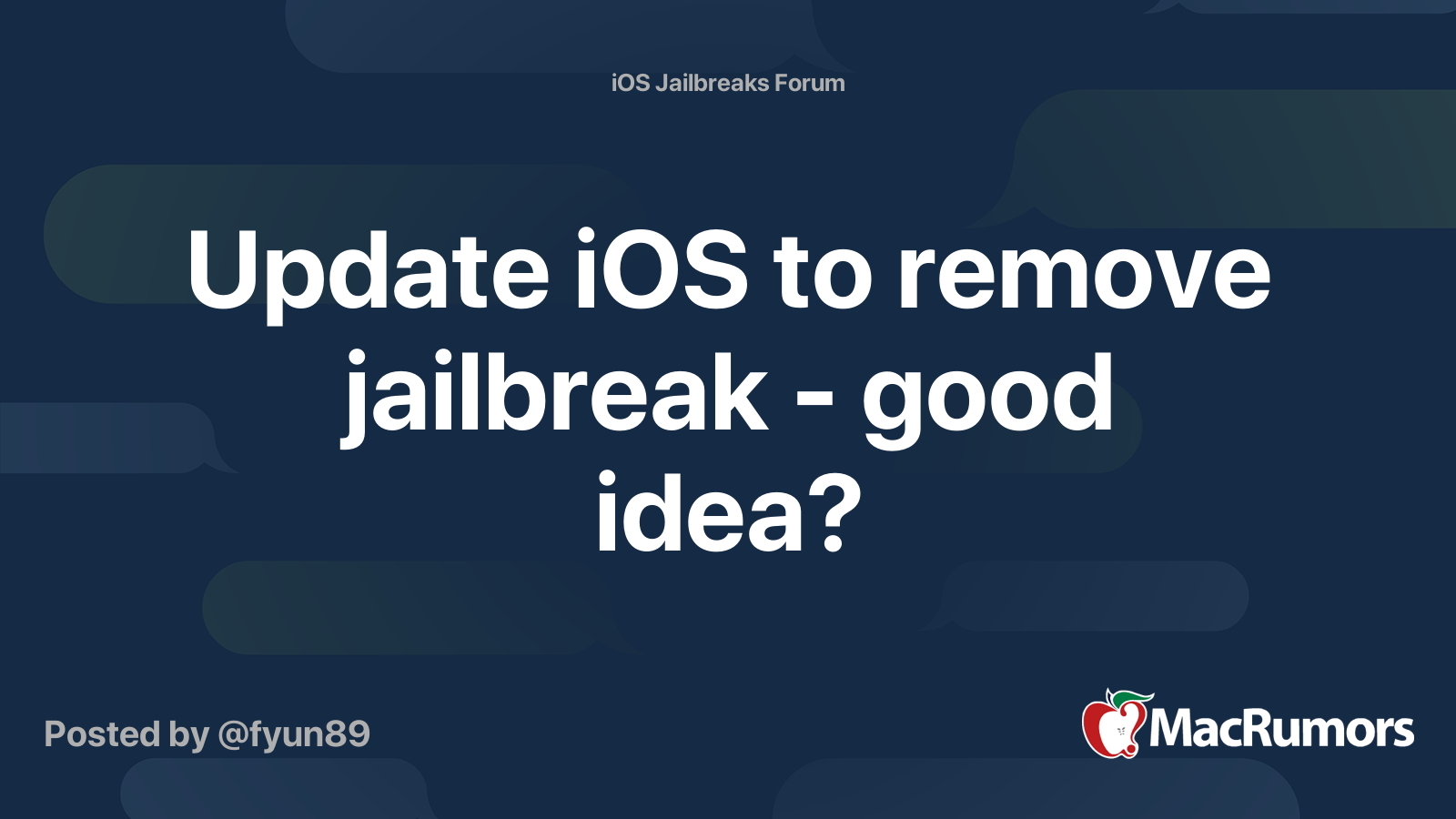 will updating iphone remove jailbreak