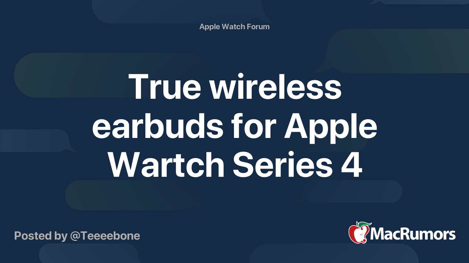 True Wireless Earbuds For Apple Wartch Series 4 Macrumors Forums