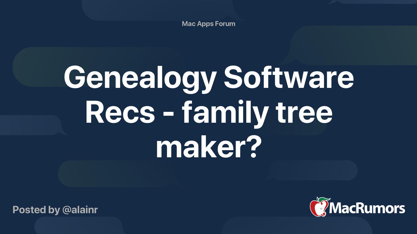 Free genealogy software for mac