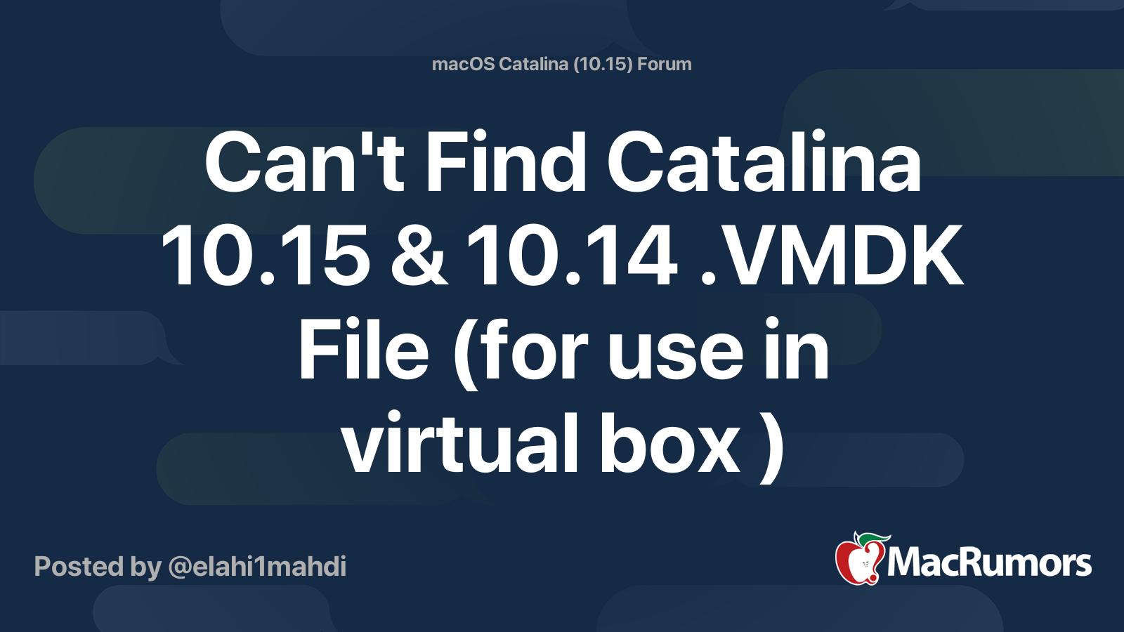 Mac Os Catalina Vmdk File Download