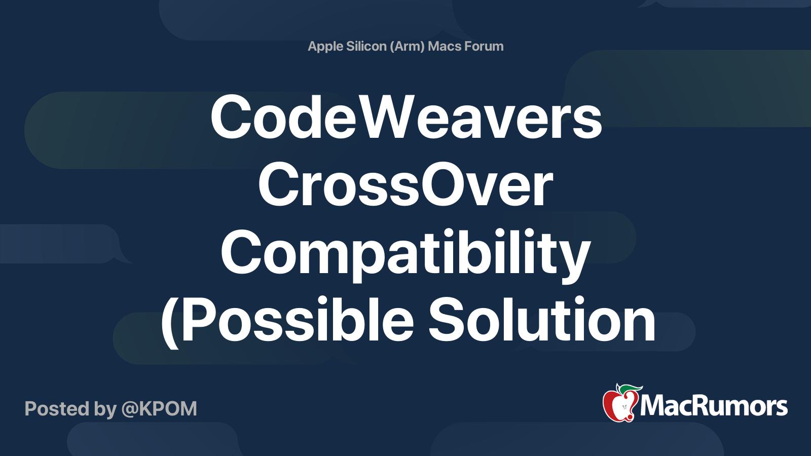 Codeweavers crossover download