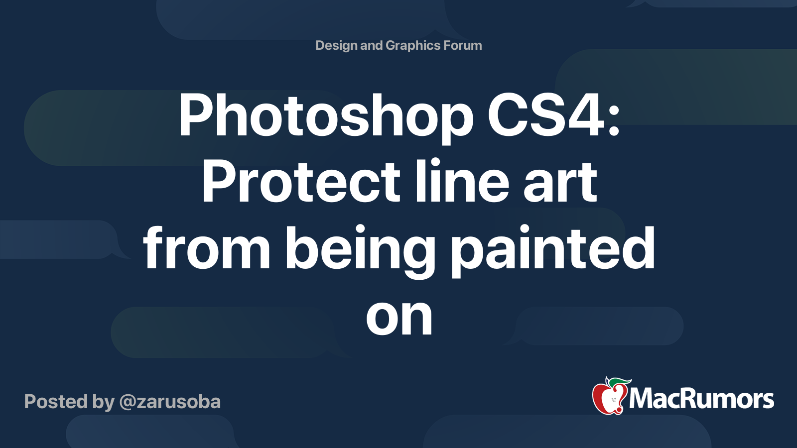 Photoshop Cs4 Protect Line Art From Being Painted On Macrumors Forums