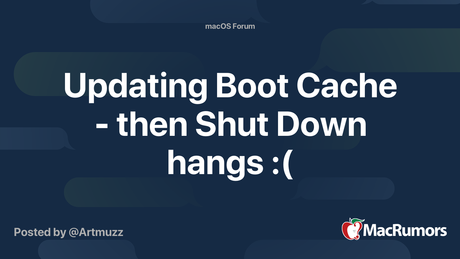 updating boot caches