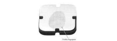 visible fingerprint patent example