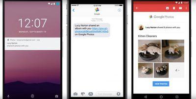 Google Photos faster sharing