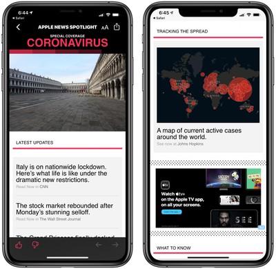 apple news coronavirus coverage