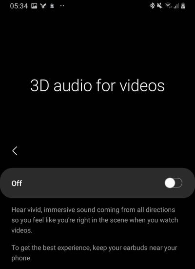 galaxy buds pro 3d audio