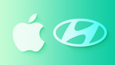Apple and Hyundai have blue-green