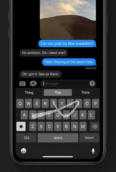 quickpath swipe keyboard iphone